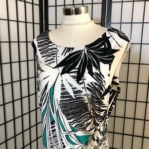 Glamour ladies sleeveless floral print dress